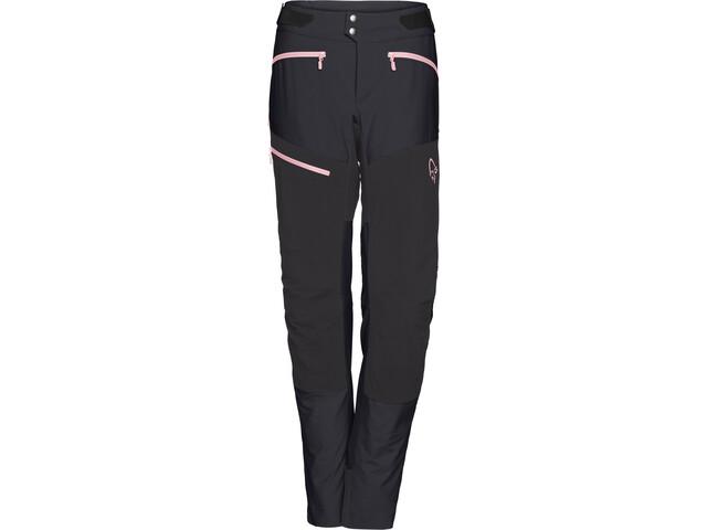 Norrøna Fjørå Flex1 Pantalon Femme, caviar/geranium pink